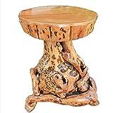 Baumstamm Hocker Teak Hocker Massives Wurzelholz Sitzhocker Beistelltisch Natur Tisch Holztisch Holzhocker Fußbank,A