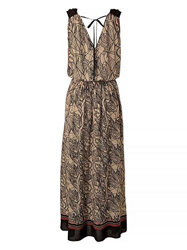 APART Femmes Robe longue Beige