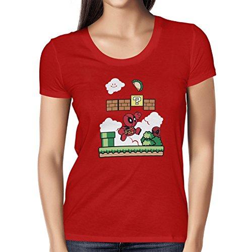TEXLAB - Super Pool World - Damen T-Shirt Rot
