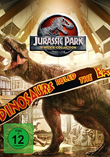 Jurassic Park 1-3 + Jurassic World 1 [4 DVDs]