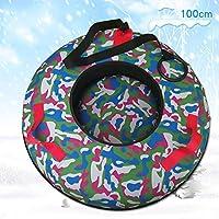 ZHAOK Trineo Hinchable de Nieve 100CM Tubo de Esquí Inflable con Manijas Snow Tube Juguetes de Nieve Invierno para Niños y Adultos,d