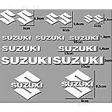 PEGATINAS MOTO RGSX SUZUKI R169 STICKERS AUFKLEBER DECALS AUTOCOLLANTS ADESIVI (BLANCO)