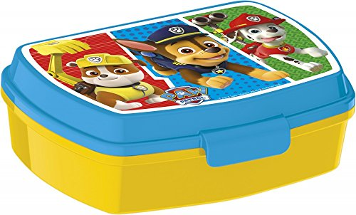 ose / Lunchbox / Sandwich Box wählbar: Cars - PawPatrol - Avengers - Blaze aus Kunststoff BPA frei - Geschenk für Jungen (Paw Patrol) ()