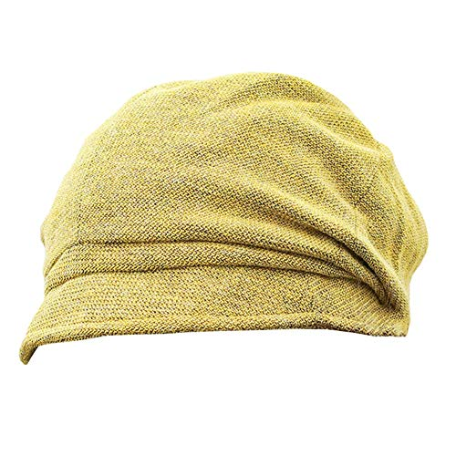 Bonnet Épais Doublure Douce Béret Pliable Bonnet Chaud en Tricot De Couleur Unie Fashion Sauvage WEIYV