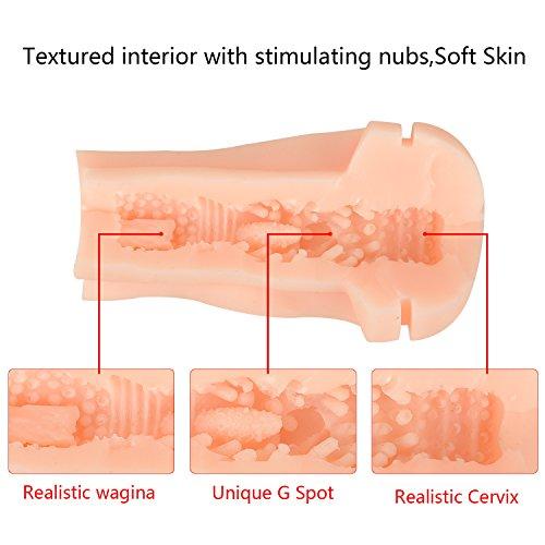 Proxoxo Masturbator Sexspielzeug Vibrator Realistische Masturbatoren Sexspielzeug für Männer Taschenmuschi Vagina Masturbation mit 10 Vibration und Sexy Stimme - 5