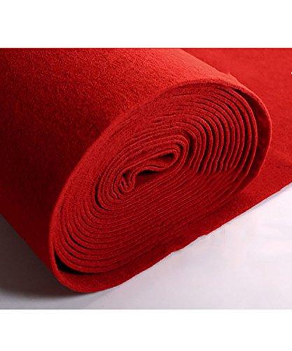 Llhy ditan tappeti per matrimoni tappeti non tessuti spazzolati uso a lungo termine, rosso, spessore 5,5 mm 6 dimensioni facoltativo cc (dimensioni : 1.2m*50m)