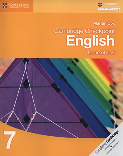 Cambridge checkpoint english. Coursebook 7. Per le Scuole superiori. Con espansione online (Cambridge International Examin) por Marian Cox