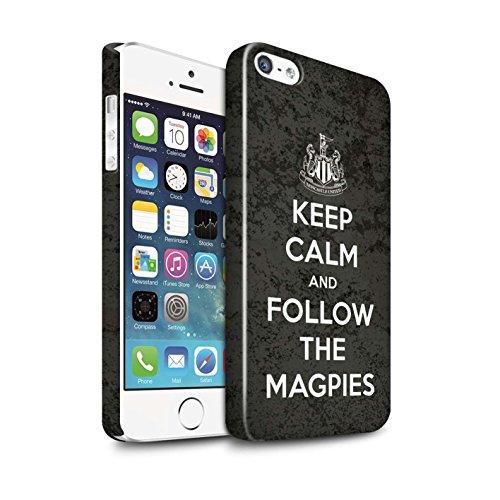 Officiel Newcastle United FC Coque / Clipser Brillant Etui pour Apple iPhone 5/5S / Pack 7pcs Design / NUFC Keep Calm Collection Suivez/Magpies