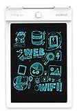 IGERESS Date Blanc 9 Pouce LCD Écriture Tablette Électronique Conseil D'écriture Numérique Conseil Dessin Graphique Tablette Durable (Blanc)