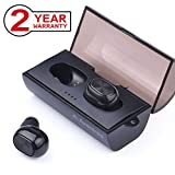 Avantree Mini In Ear True Wireless Stereo Headset mit portabler Lade-Hülle, Bluetooth 4.1 TWS Kopfhörer, Unsichtbarer Ohrstöpsel, Sicherer Sitz kabellos Kleinste Sports Ohrhörer für iPhone, Samsung - TWS320