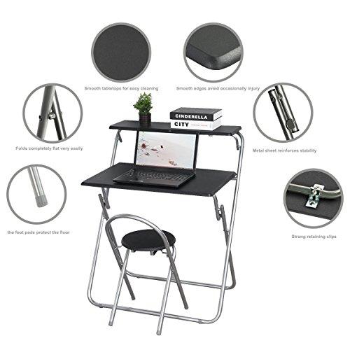aingoo zusammenklappbar computer schreibtisch und stuhl set f r kinder student ebay. Black Bedroom Furniture Sets. Home Design Ideas