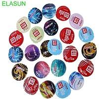 Portal Cool Elasun 24pcs / set Condón de látex natural condones para hombres Juguetes sexuales Anticoncepción más segura Anillo de pene Preservativo Productos de sexo: sin caja