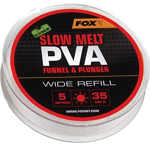 Fox Edges PVA Mesh Refill Slow Melt 5m - PVA-Schlauch Mesh System, wasserlösliches Netz Zum Karpfenangeln, Futternetz, Größe:35mm Wide -