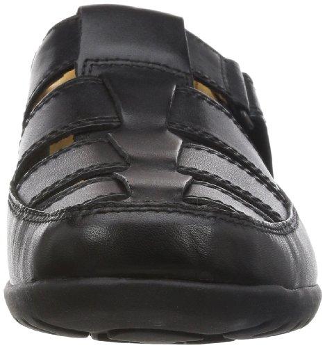 Clarks Recline Open Herren Slip On Schwarz (Black Leather)