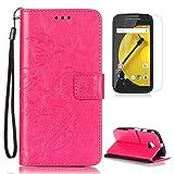 CaseHome Compatible with Case Motorola Moto E2 Coque en Cuir [avec Gravuit Protection...