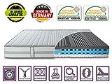 BMM DIREKT VOM Hersteller - Made IN Germany Matratze ZWEISEITIG 80x200 Höhe 26cm | 2 Härtegrade in 1 Matratze H2 + H3 | mit extra Gelschaum | Borderbezug SaniNature waschbar | extra hoch