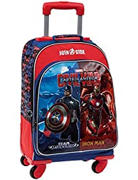 Marvel Civil War Mochila Escolar, Color Rojo