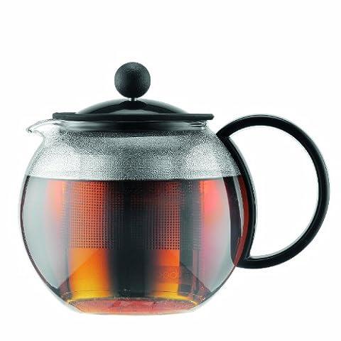 Bodum ASSAM Tea Maker (French Press System, Permanent Stainless Steel Filter, 0.5 L/17 oz) - Black