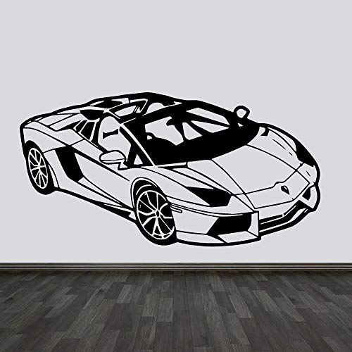 wandaufkleber fussball Fast & Furious Fashion Sport Racing Car Sticker Home Wohnzimmer Kinder Schlafzimmer Möbel (Kinder-wand-sticker-cars)