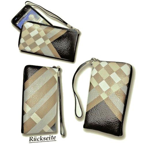 Handy Universal Tasche Handytasche - Caro Stripes - Cover Case Hülle für verschiedene Samsung Mobiltelefone