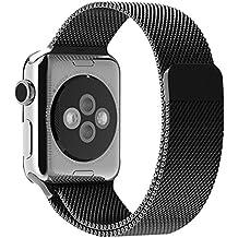 For Apple Watch 42mm,Ouneed ® Correa Banda Magnética Milanese Loop reloj de acero inoxidable de 42 mm Reloj para Apple (Negro)