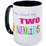 CafePress - Two Grandkids - Coffee Mug, Large - Best Reviews Guide