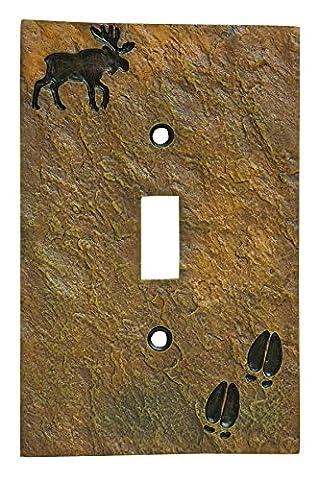 Big Sky Carvers 30170442 Moose and Tracks Single Switch Plate by Big Sky Carvers
