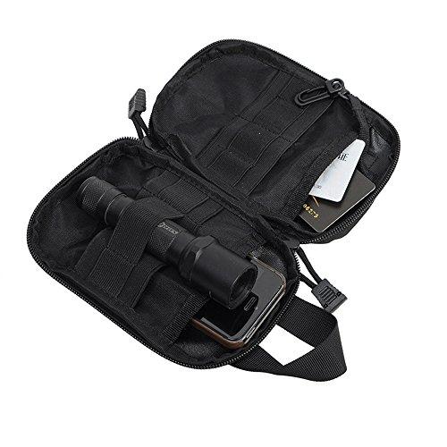 Force Valley Military EDC Werkzeug Zubehör Tasche Tactical Taille Tasche Griff 1000D Nylon mit Gürtel Schwarz