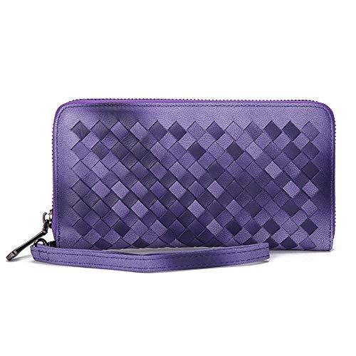 Olydmsky Damen Walletwomen Brieftasche Schaffell Handtasche Handtasche Hand Tasche Handtasche Groß weiblichen Handtasche Frau -