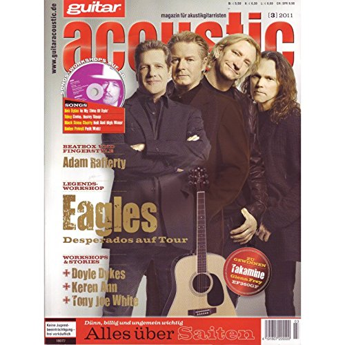 guitar acoustic 3 2011 mit CD - Eagles - Interviews - Akustikgitarre Workshops - Akustikgitarre Playalongs - Akustikgitarre Test und Technik - Akustikgitarre Noten
