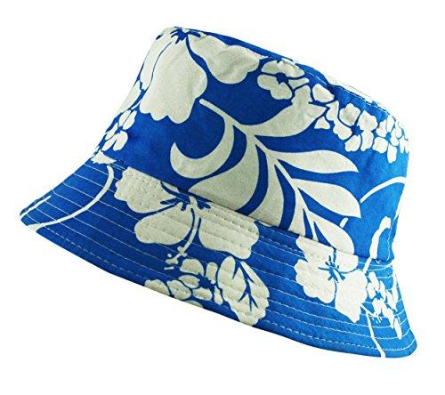 Floral Chapeau de soleil mixte Bush Boonie pêcheur Bleu roi/bleu marine/blanc Bleu - Royal Blue and White