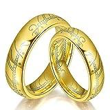 LUFA 6mm Frauen Mens beschriften Das gedruckte Ring-Titanstahlring Drehen Unisex Schmuck