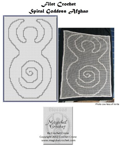 Spiral Goddess Filet Crochet Afghan Pattern (English Edition)