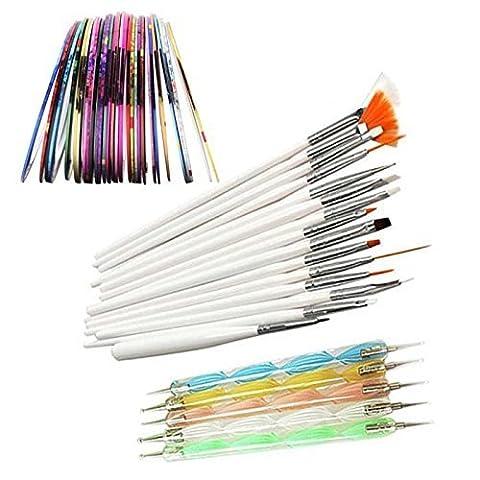 Vococal® 15Stk Nail Art Pinsel Nagellack Lack Malerei Detaillierung Zeichenpinsel