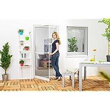 protección contra insectos mosquitera puerta Marco de aluminio START en blanco, marrón o Antracita x 100 210 cm - Marrón