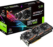 Asus ROG Strix GeForce STRIX-GTX1080-A8G-GAMING 8 GB GDDR5 Graphics Card - Black