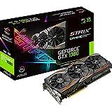 ASUS STRIX-GTX1080-A8G-GAMING - Tarjeta gráfica (Strix, NVIDIA GeForce GTX 1080, 8 GB, GDDR5X, DVI, HDMI, DP), color negro