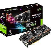 ASUS ROG Strix GeForce GTX1080-A8G Gaming Grafikkarte (Nvidia, PCIe 3.0, 8GB GDDR5X Speicher, HDMI, DVI, Displayport)