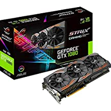 Asus ROG STRIX-GTX1080-A8G-GAMING Carte graphique Nvidia GeForce GTX 1080, 1835 MHz, 8GB GDDR5X 256 bit, DirectCU III