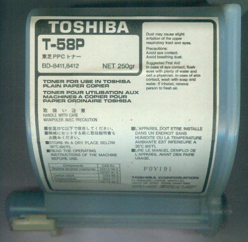 Toshiba T-58P - Toner for use in Toshiba plain paper copier - Toner für Fotokopierer [BD-8411,8412, NET 250 gr]