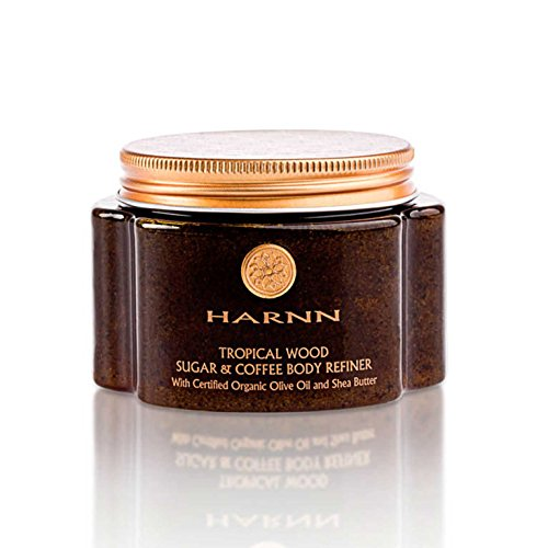 TROPICAL WOOD SUGAR & COFFEE REFINER (BODY SCRUB) WITH CERTIFIED ORGANIC OLIVE OIL AND SHEA BUTTER 245 G. -