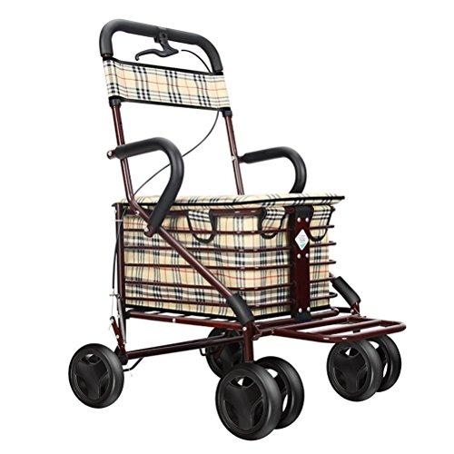 Walking-Hilfe Walker Die Ältere Hilfe Verkehr Gürtel Mit Sitz Collapsible Old Man Multifunktionale Lebensmittelgeschäft Shopping Trolley Warenkorb,02