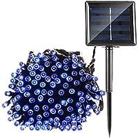 Ultr astyle catena di 200luci a LED a energia solare giardino esterno luce bianca 20m, 8modalità luce decorativa per terrazza party matrimoni corte campeggio Natale etc. & # xFF08; Blu & # xFF09;