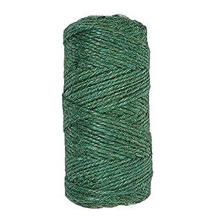KINGLAKE 328 Feet Garden Twine Green Jute String for Gardening, Florist Bouquet and Bundling