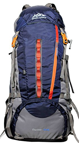 Mount Track Discover 9107 Rucksack, Hiking Backpack 75 Ltrs Navy Blue with Rain Cover