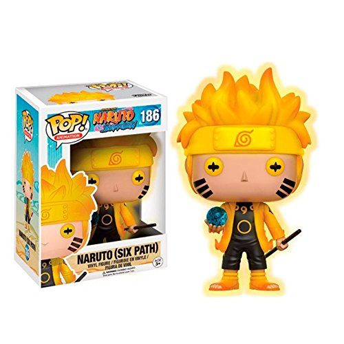 Funko - Figurine Naruto - Naruto Six Paths Version Glow In The Dark Exclu Pop 10cm - 0889698129992