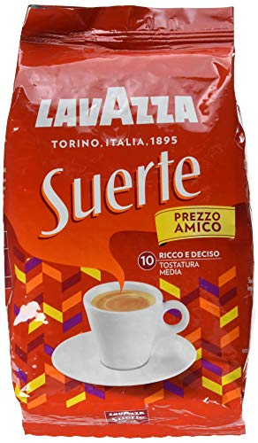 Lavazza (Roast and Ground) Caffè in Grani per Macchina Espresso Suerte - 1 kg