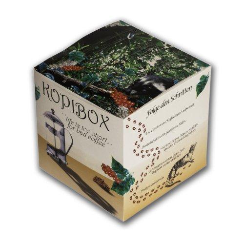 Frühling Garten Voll Latte (Katzenkaffee Kopi Luwak Kopi Box als Geschenk Set mit Zubehör u. Anleitung s perfekte Geschenk (von freilebenden Tieren))