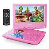 from DBPOWER DBPOWER 9.5 Portable DVD Player, Swivel Screen Handheld TV, 4 Hours Rechargeable Battery, Supports SD Card and USB Port, Direct Play in Formats AVI/RMVB/MP3/JPEG (Pink)