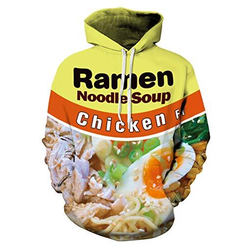 Romon Herren Pullover Food Chicken Print Langarm Hoodie,Chicken,3XL
